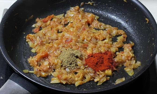 addition of chili powder for capsicum curry recipe