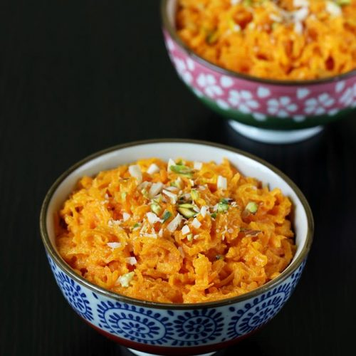 Gajar ka halwa with milkmaid or condensed milk