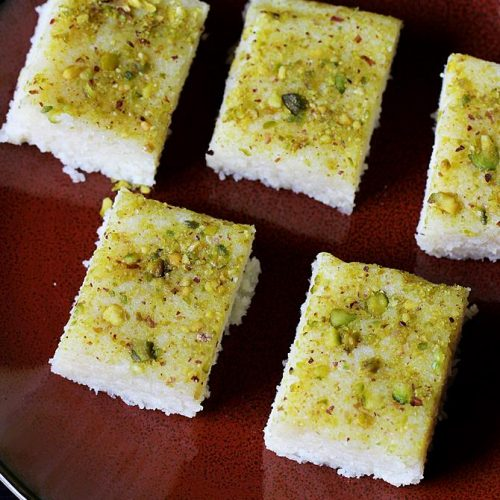 diwali sweets recipe - coconut burfi