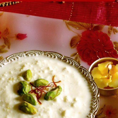 kaddu ki kheer for diwali sweets