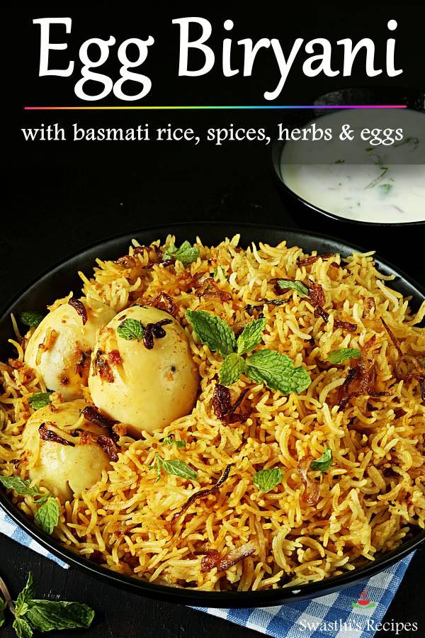 Egg biryani recipe (Instant pot & stovetop)