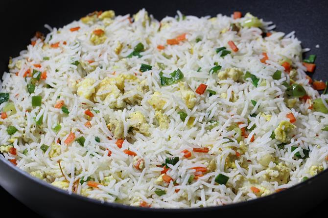easy vegetable fried rice recipe using eggs