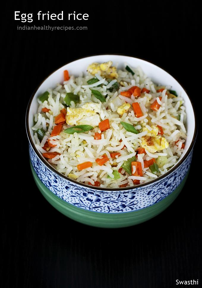 Egg fried rice recipe video how to make egg fried rice egg rice egg fried rice can also be made using boiled eggs this recipe is similar to the easy veg fried rice but this one is with an addition of eggs ccuart Image collections