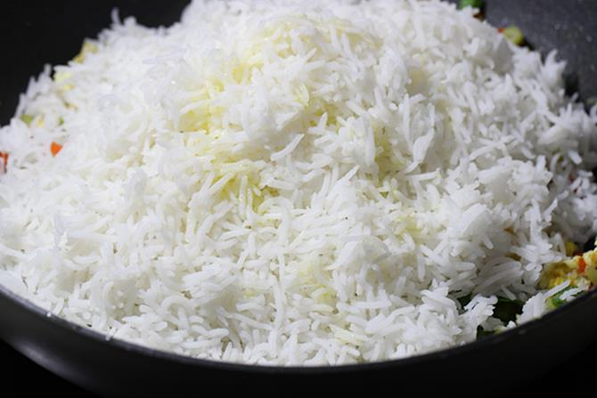 addition of cooked rice