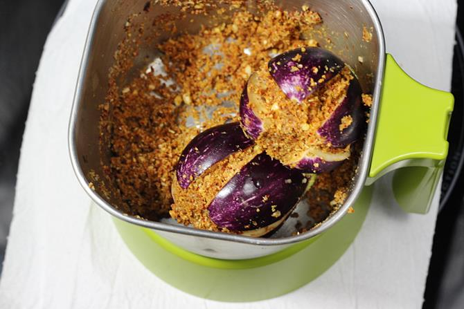 stuff egg plants for gutti vankaya kura recipe