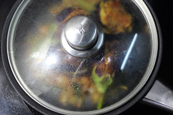 cooked brinjal curry