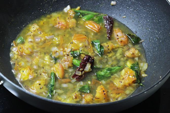 addition of water for moong dal recipe