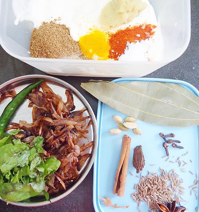 marinade for dum paneer biryani recipe