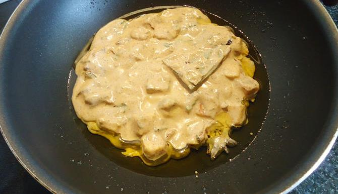 addition of ghee for paneer biryani recipe