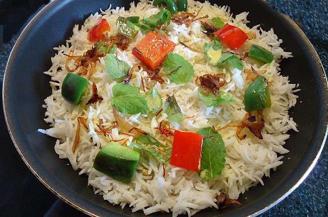 layer nuts for dum paneer biryani recipe