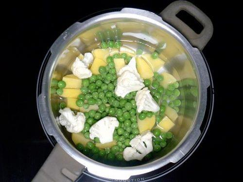 boiling veggies for pav bhaji recipe