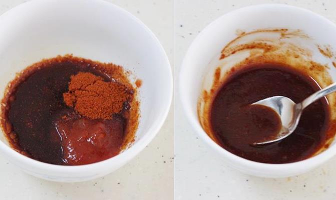 prepare sauce for making dry chilli chicken recipe