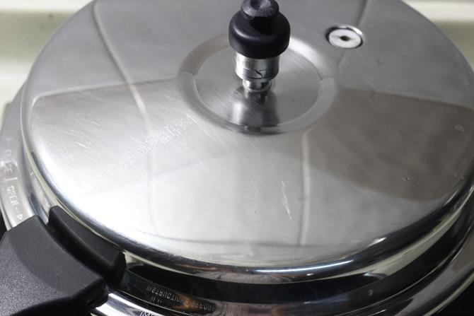 pressure cook covered for coconut milk rice recipe
