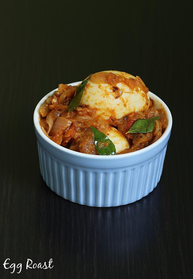 easy egg roast recipe swasthis recipes