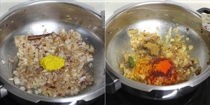 Add ginger garlic paste