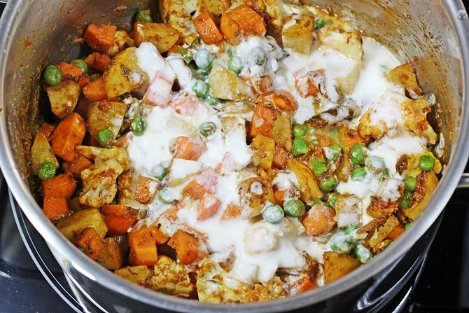 addition of half curd in hyderabadi veg biryani recipe