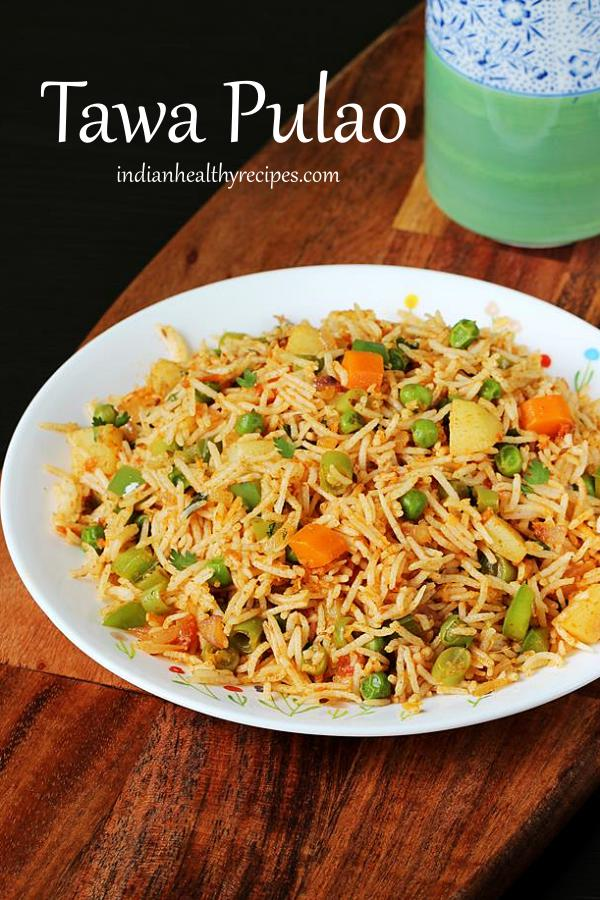 tawa pulao - mumbai simple vegetable rice made with spice powder & veggies #tawapulao