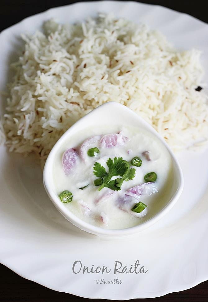 onion raita recipe swasthis recipes