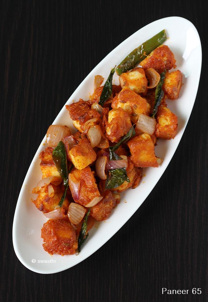 paneer 65 fry recipe