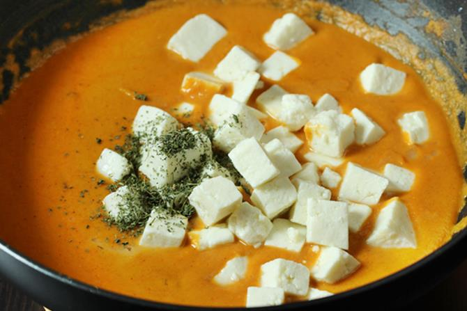 thickened gravy sauce for paneer butter masala recipe