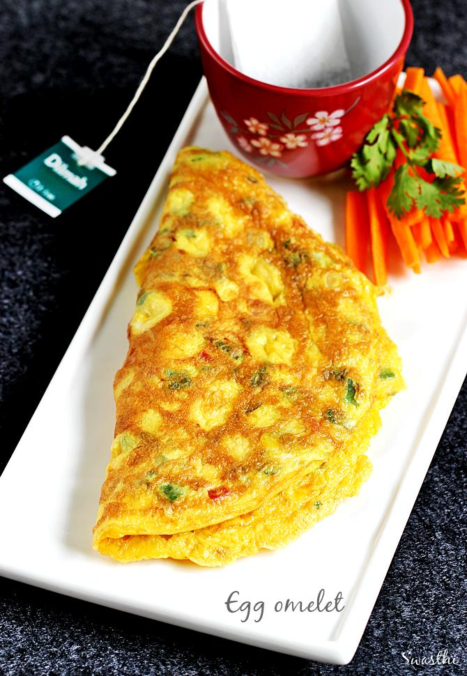vegetable egg omelet