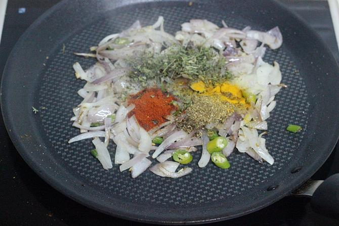 addition of spice powders for boiled egg sandwich recipe