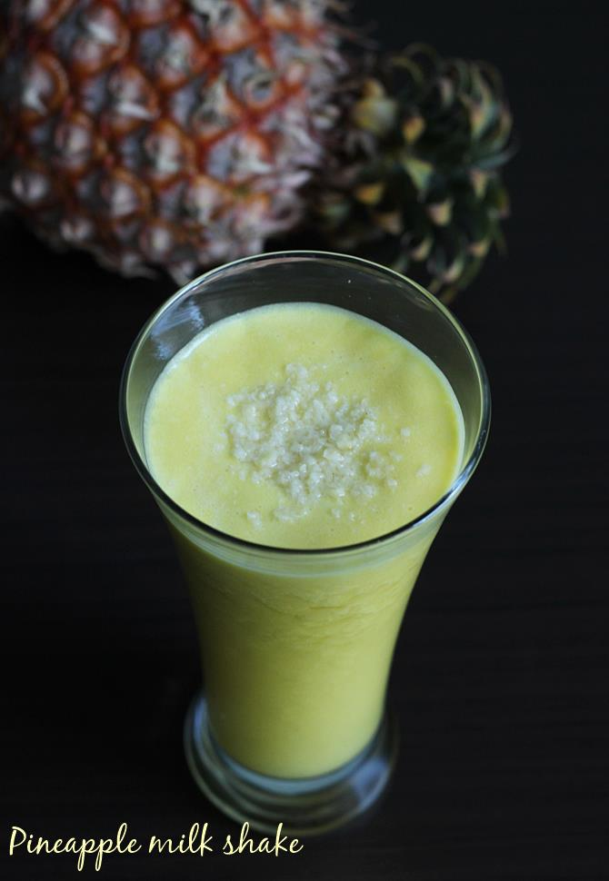 pineapple milkshake recipe