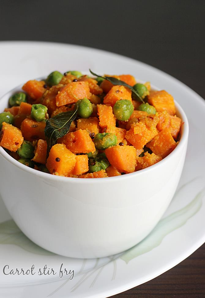 Carrot fry recipe dry carrot curry recipe peas carrot stir fry carrot fry recipe forumfinder Image collections