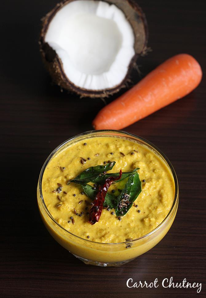 carrot pachadi or carrot chutney