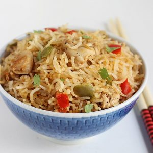 Chicken fried rice recipe | How to make chicken fried rice recipe