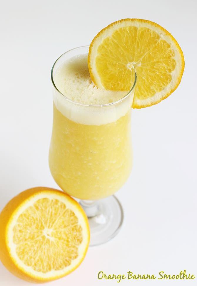 orange banana smoothie recipe