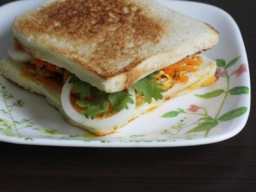 Egg bhurji sandwich | How to make egg sandwich