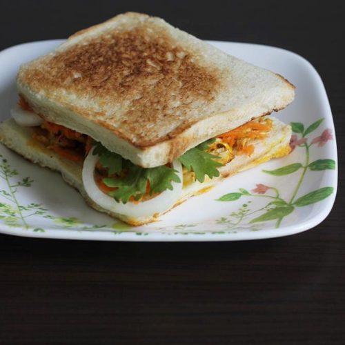 Egg bhurji sandwich | How to make egg sandwich