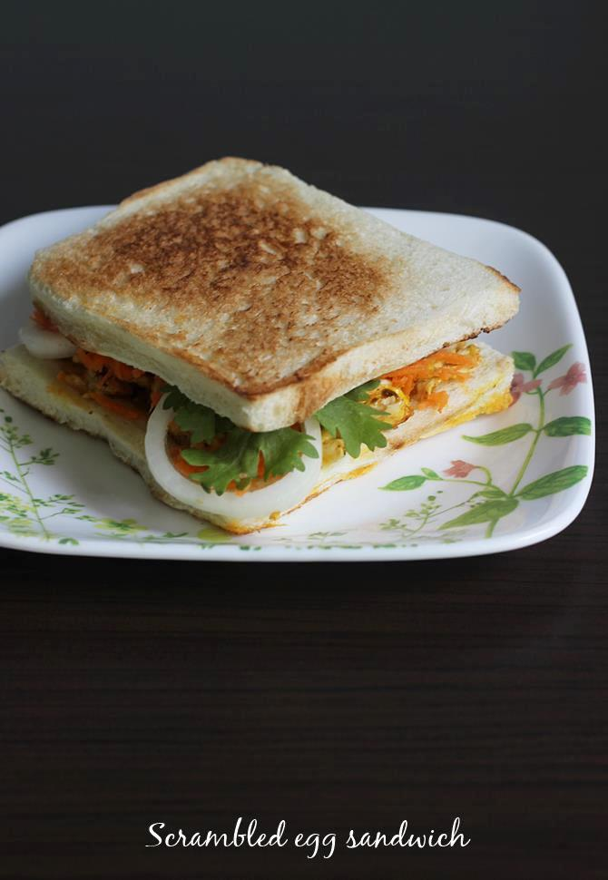 egg bhurji sandwich recipe