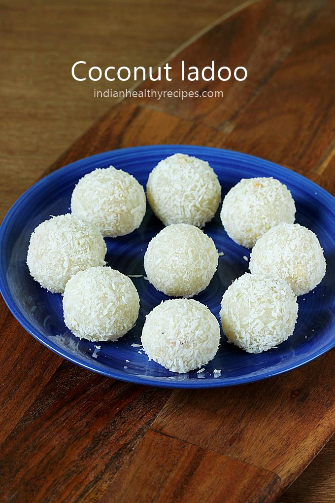 coconut ladoo coconut laddu