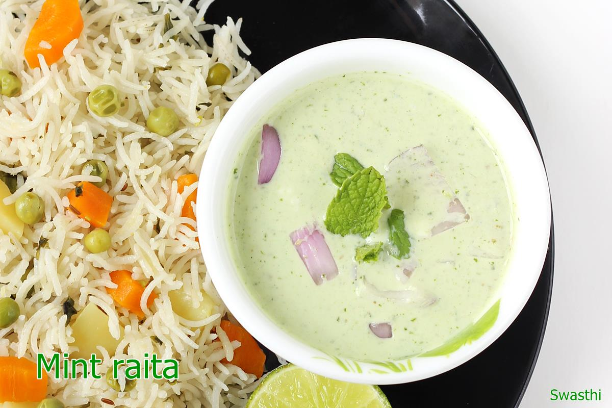 Mint raita recipe pudina raita recipe how to make mint raita or mint raita recipe forumfinder