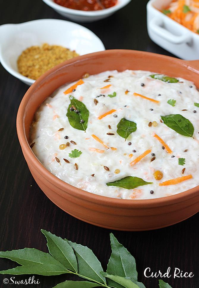 Curd rice recipe how to make curd rice recipe yogurt rice curd rice recipe thayir sadam for more simple south indian forumfinder Images