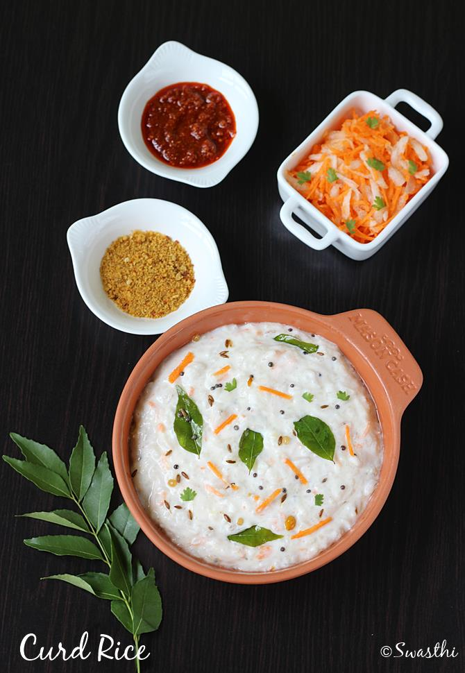 swasthis recipes - curd rice recipe