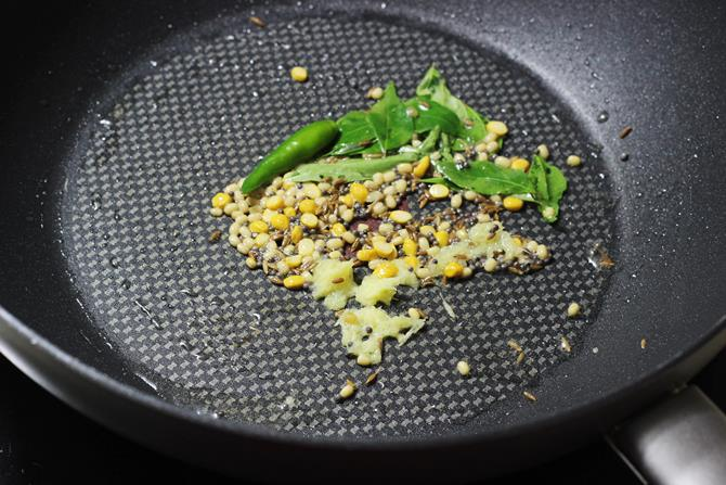 tempering spices in oil on how to make curd rice recipe