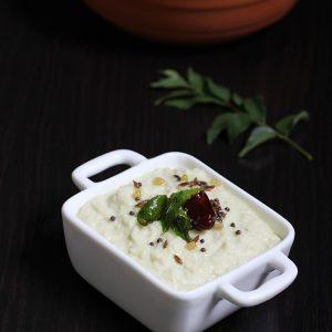 Mango chutney recipe | South Indian kobbari mamidikaya pachadi recipe
