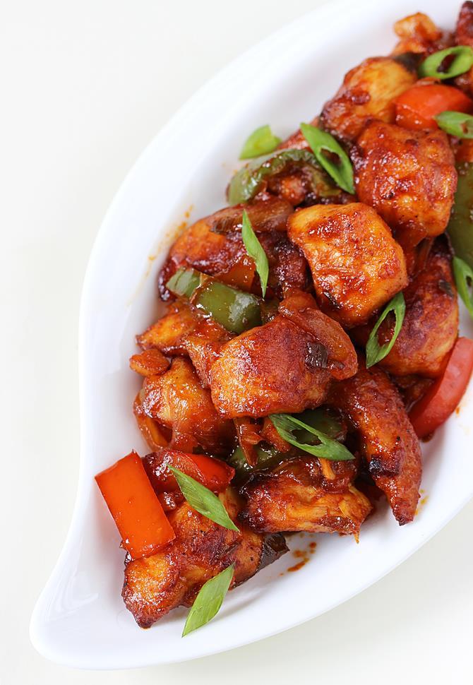 Schezwan chicken recipe | Szechuan chicken recipe in Indo ...