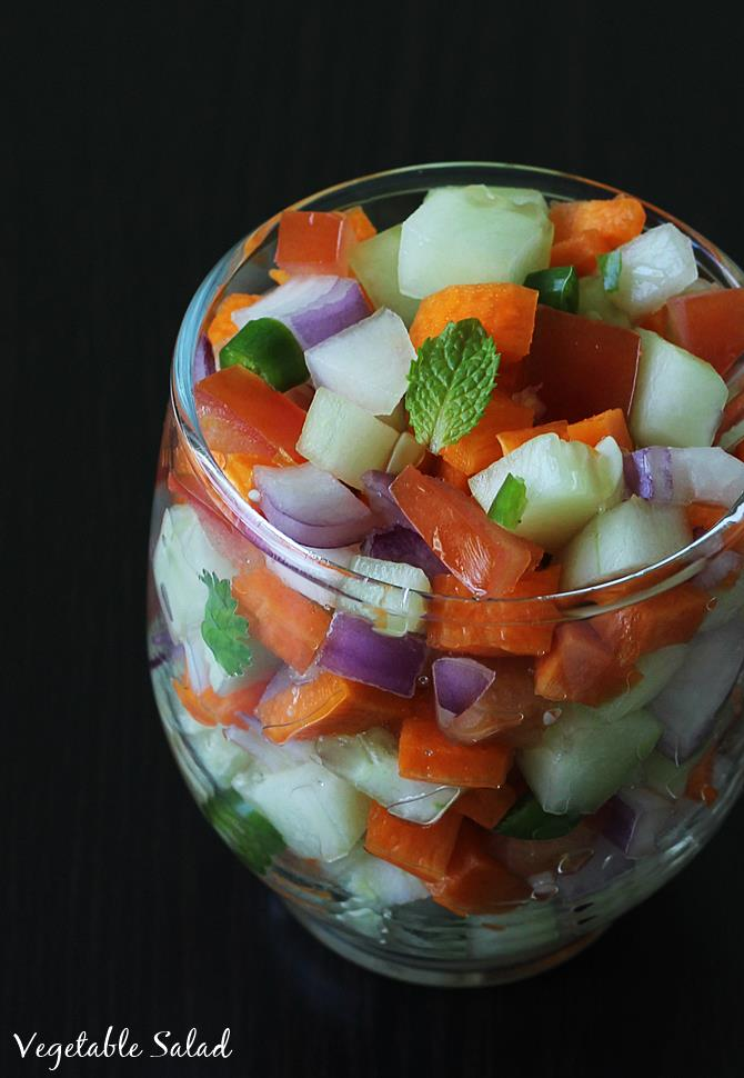 garnished vegetable salad recipe