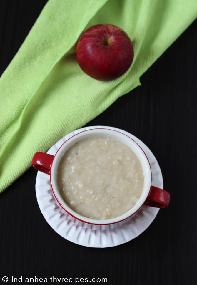 apple oats porridge for babies
