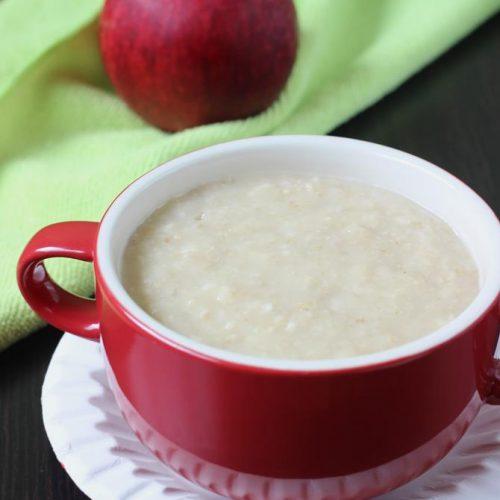 Apple oats porridge