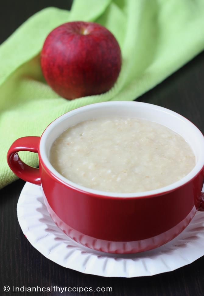 apple oats porridge recipe for babies