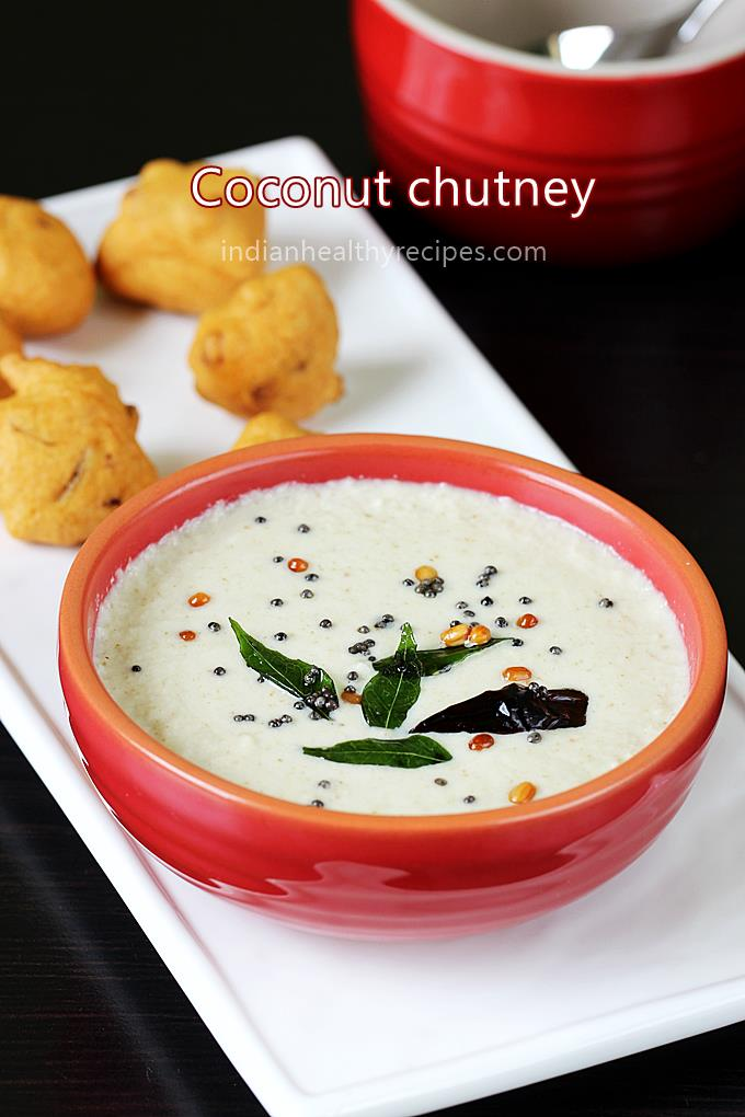 Coconut chutney | How to make coconut chutney - Swasthi's Recipes