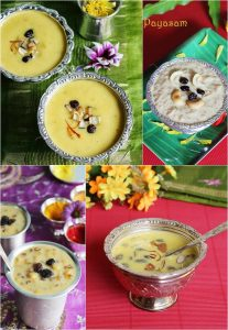 Payasam varieties | kheer recipes | Collection of 20 payasam recipes