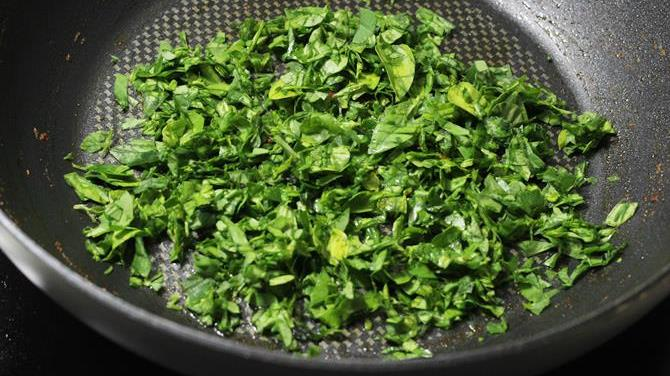 frying leaves for paneer recipe