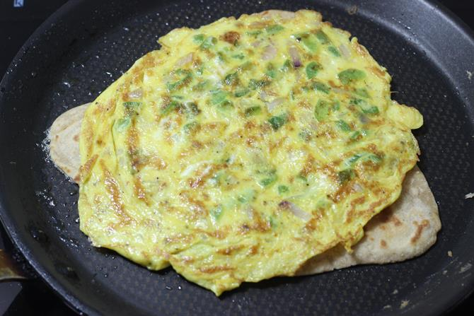 flipped egg paratha recipe