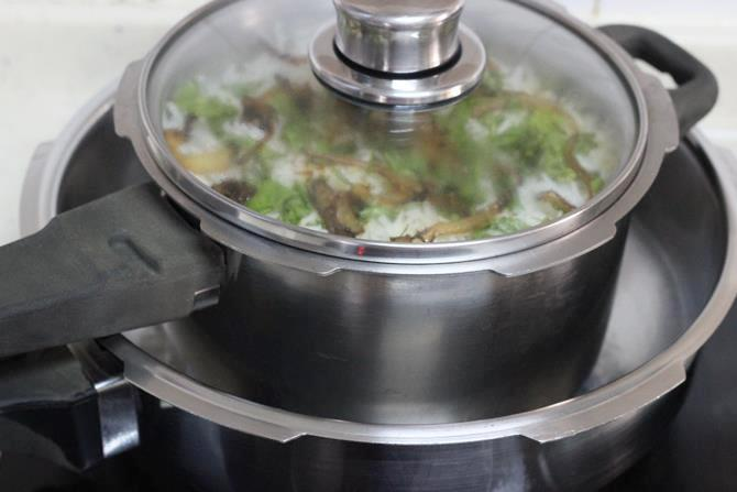 seal the pot for dum process to make fish biryani recipe
